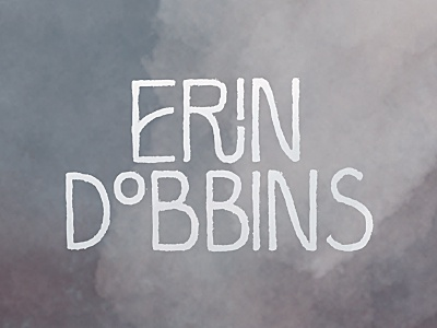 Erin Dobbins Logo logo illustration erin dobbins watercolor branding identity