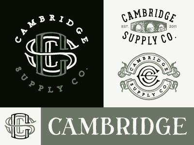 Cambridge Logo Options illustration logo branding cambridge sketch hand drawn