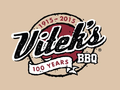 Vitek's 100th Anniversary Logo viteks logo branding sketch illustration hand drawn