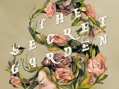 The Secret Garden Collaboration  painting illustration type typography watercolor