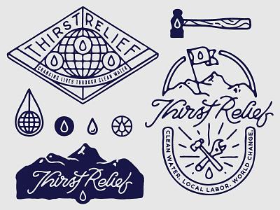 Thirst Relief shirt design elements shirt design illustration sketch type hand drawn