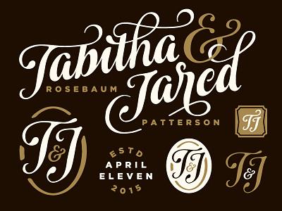 Tabitha & Jared Invitation wedding typography invitation type illustration branding icon lettering hand drawn