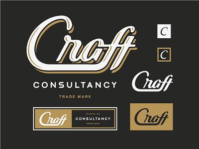 Craft Consultancy Branding hand drawn drawing script typography logo illustration branding