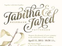 Tabitha & Jared Invitation Design