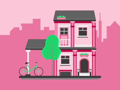 House Lottery - Rejected Concept concept ui design webdesign rejected color scheme wired urban bike lottery video animation illustration house
