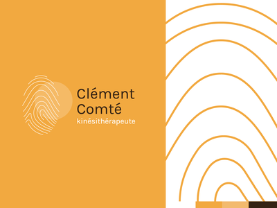 Clément Comté - Physiotherapist illustration vector typography branding logo health physical therapy physiotherapist