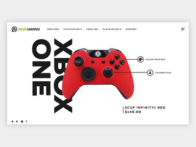 Scuf Gaming Controller Web UI - Infinity1 (Xbox One) desktop xboxone one web xbox controller redesign ui ecommerce design gaming scuf