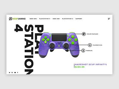 Scuf Gaming Controller Web UI - Nadeshot (PS4) web 4 playstaion ps4 controller nadeshot scuf redesign gaming ui ecommerce design