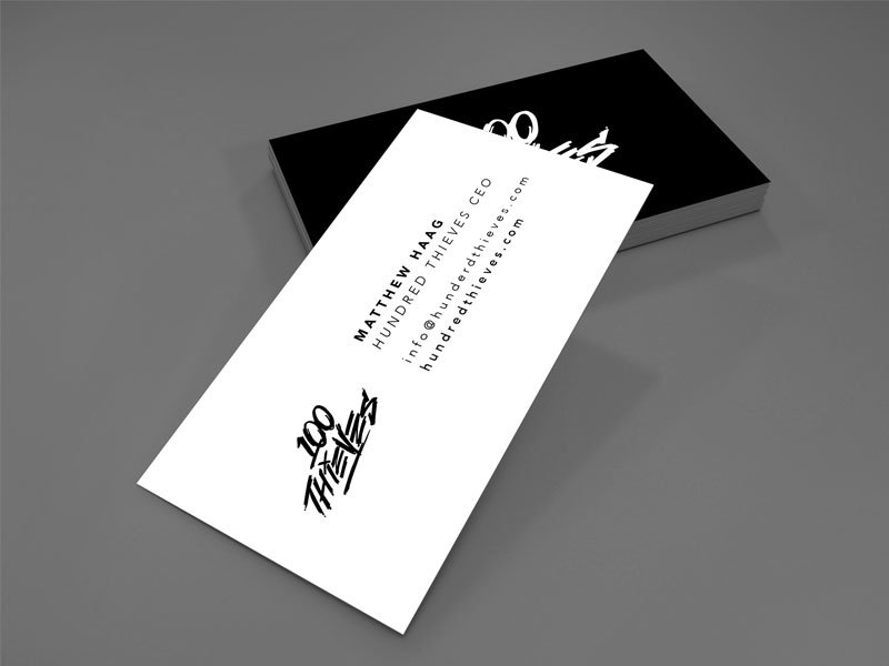 100 thieves ceo business cards by leo ventura dribbble colourmoves