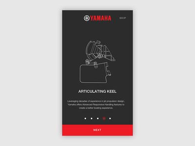 Yamaha Onboarding iPhone - Boats boats concept design ux ui welcom tutorial screen iphone onboarding yamaha