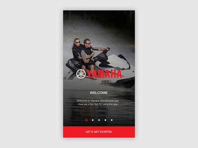 Yamaha Onboarding iPhone - WaveRunners concept design ux ui welcom tutorial waverunner screen iphone onboarding yamaha
