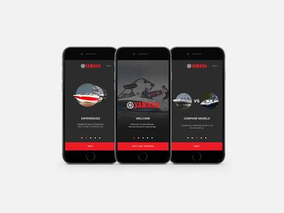 Yamaha Onboarding iPhone - Boats concept design ux ui welcom tutorial boats screen iphone onboarding yamaha