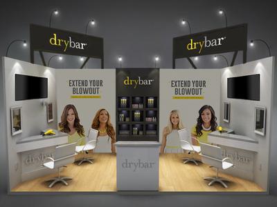 Drybar - Booth Design blow bar dry salon style hair buttercup yellow design booth drybar