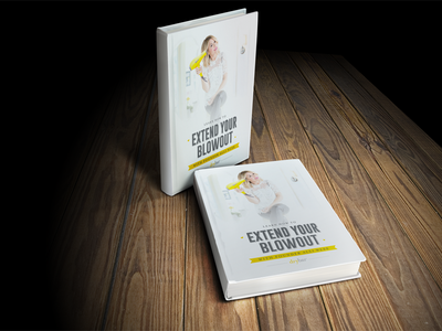 Drybar Extend Your Blowout Book Cover concept psd up mock table design out blow concept cover book drybar