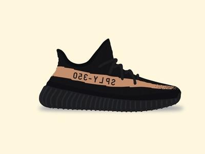 Yeezy Boost 350 V2 - Copper copper kanye vector shoe illustration adidas v2 350 boost yeezy