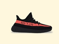 Yeezy Boost 350 V2 - Red Stripe