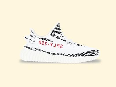 Yeezy Boost 350 V2 - Zebras yeezy boost 350 v2 adidas illustration shoe vector kanye zebra