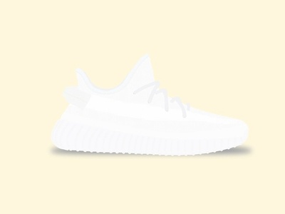 Yeezy Boost 350 V2 - Creams yeezy boost 350 v2 adidas illustration shoe vector kanye creams