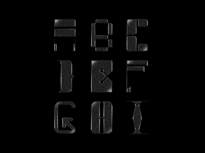 9/36 - 36 Days Of Type bitmap type design font design font typeface 36daysoftype07 36daysoftype typography