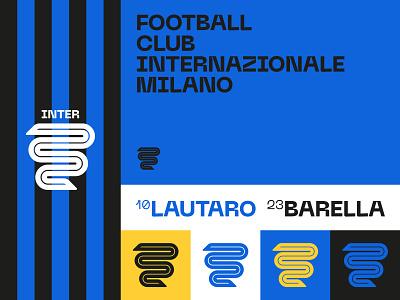 Inter Rebranding - Fantasy Concept typography brand design rebranding palette branding brand logo soccer football