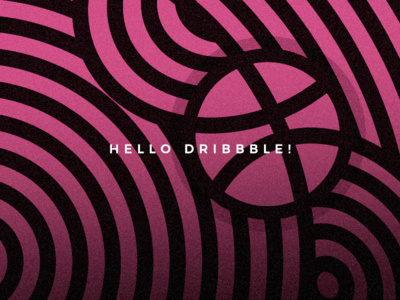 Landing on Dribbble! stripes abstract logo design first post graphic design visual debut