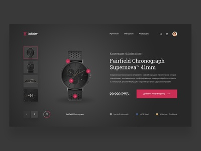Online store watches. Visual concept