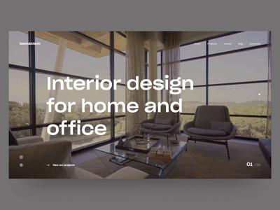 Interior Design. Concept of website