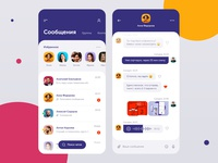 Mobile app for corporate chat