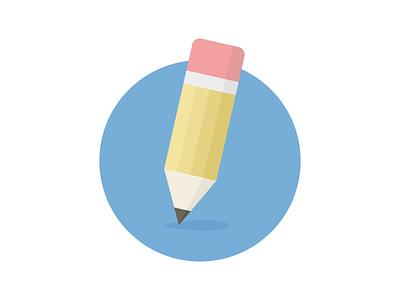 Pencil pencil flat icon illustration writing utensil graphite not lead