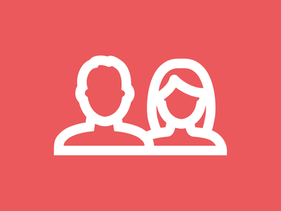 Friends Icon silhouette friends man woman boy girl person thick lines outline rigid