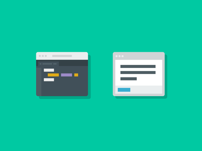 Code and Email Icons