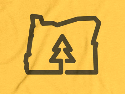 Oregon is for Trees! oregon think lines state outline tree cotton bureau
