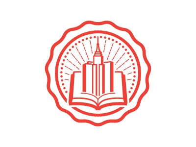 Building Books Seal badge seal city book buildings icon