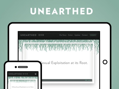 Unearthed Pictures Launch website launch responsive retina unearthed