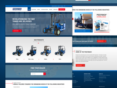 Princeton Delivery Systems industrial red blue seo website forklift responsive
