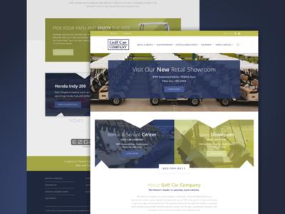 Golf Car Company golf car golf blue green seo graphic design web design website