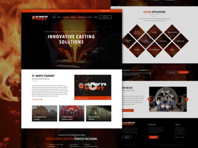 St. Marys Foundry red black industrial foundry web development web design website