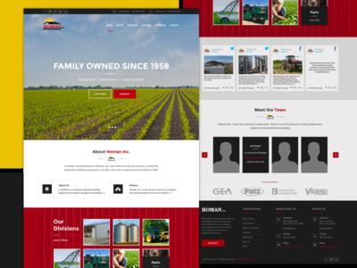 Homan Inc. equipment barns farm irrigation construction graphic design development web design website