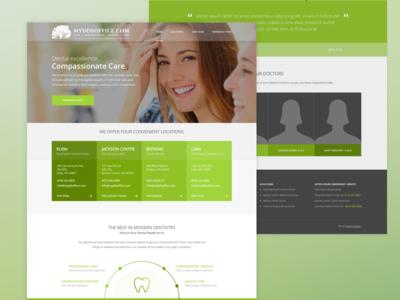myddsoffice.com smile health teeth dentist green responsive seo web design website