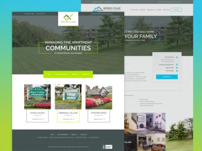 Provident United design community apartment word press seo web design development website