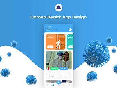 Corona Health App Design mobile design covid-19 health app corona