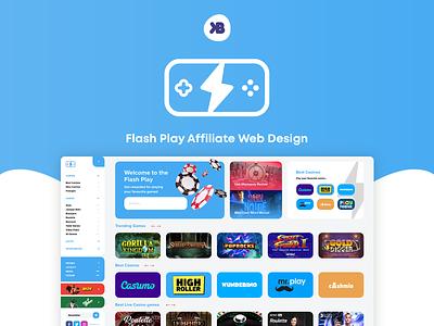 Flash Play Affiliate Web Design webdesign live casino lotto provider sportsbook casino