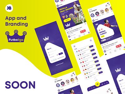 Futboliga App Design & Branding (SOON) branding application betting tips app design