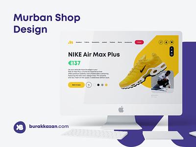 Murban Shop - QUICK DESIGN nike social media design branding shop design shoe shop ui  ux shop web design