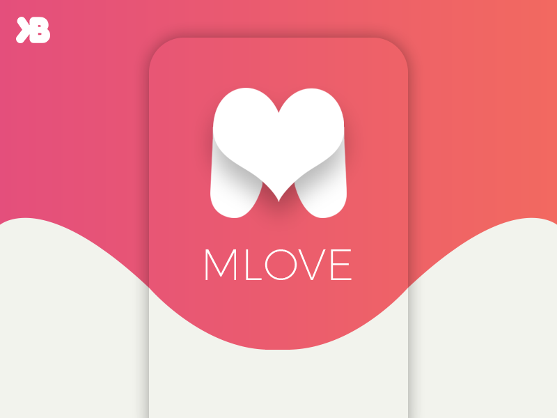 Mlove Logo Design By Burak