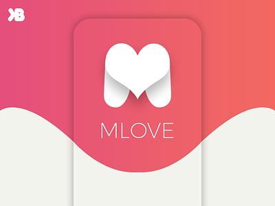 Mlove Logo Design chat logo logo