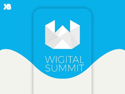 Wigital Summit Logo Design summit logo logo