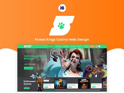 ♠ Forest Kings Casino - Casino Web Design casino casino web design game web design web design slots spins ui web design ux ui