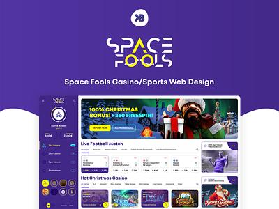 ♠ Space Fools - Casino/Sports Web Design football design banner design social media design social template web design ux ui spins slots game web design sports web design casino web design casino