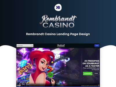 ♠ Rembrandt - Casino Landing Page Design ui  ux spins slot casino slots casino landing page